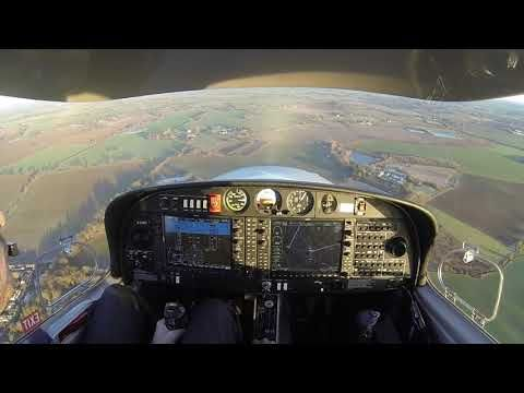 Landing a Diamond DA40 NG with a crosswind