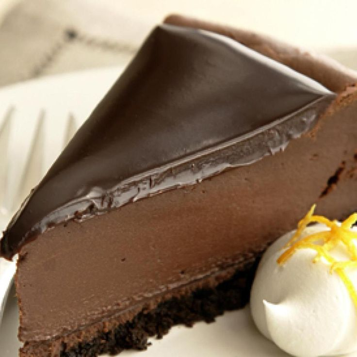 Deliciously Dark Chocolate Cheesecake.