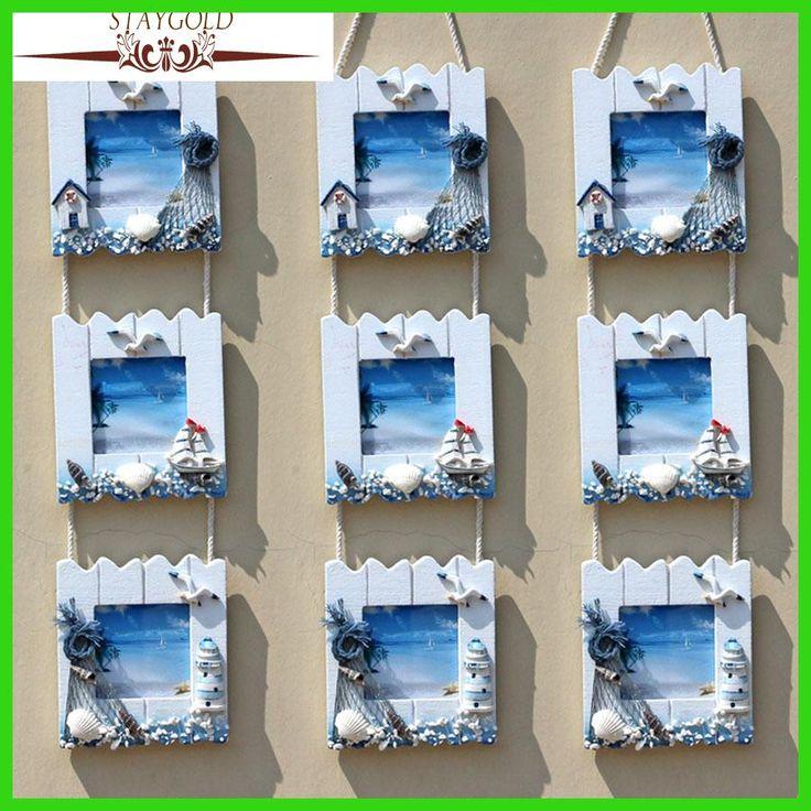 STAYGOLD Mediterranean Wall Decoration Photo Frame Foto Frame Quadros De Parede Vintage Photo Frames Photos Wooden Picture Frame