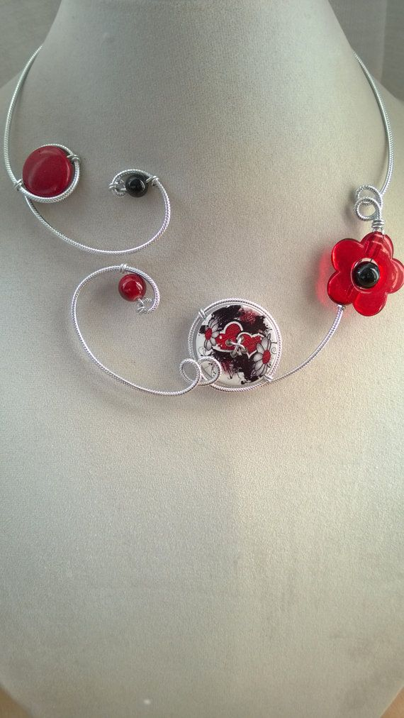 Red and black Red and black jewelry Red by LesBijouxLibellule