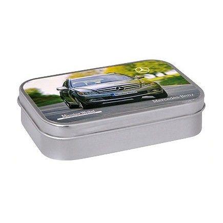 Scatolina in metallo Rectangular Tin personalizzata