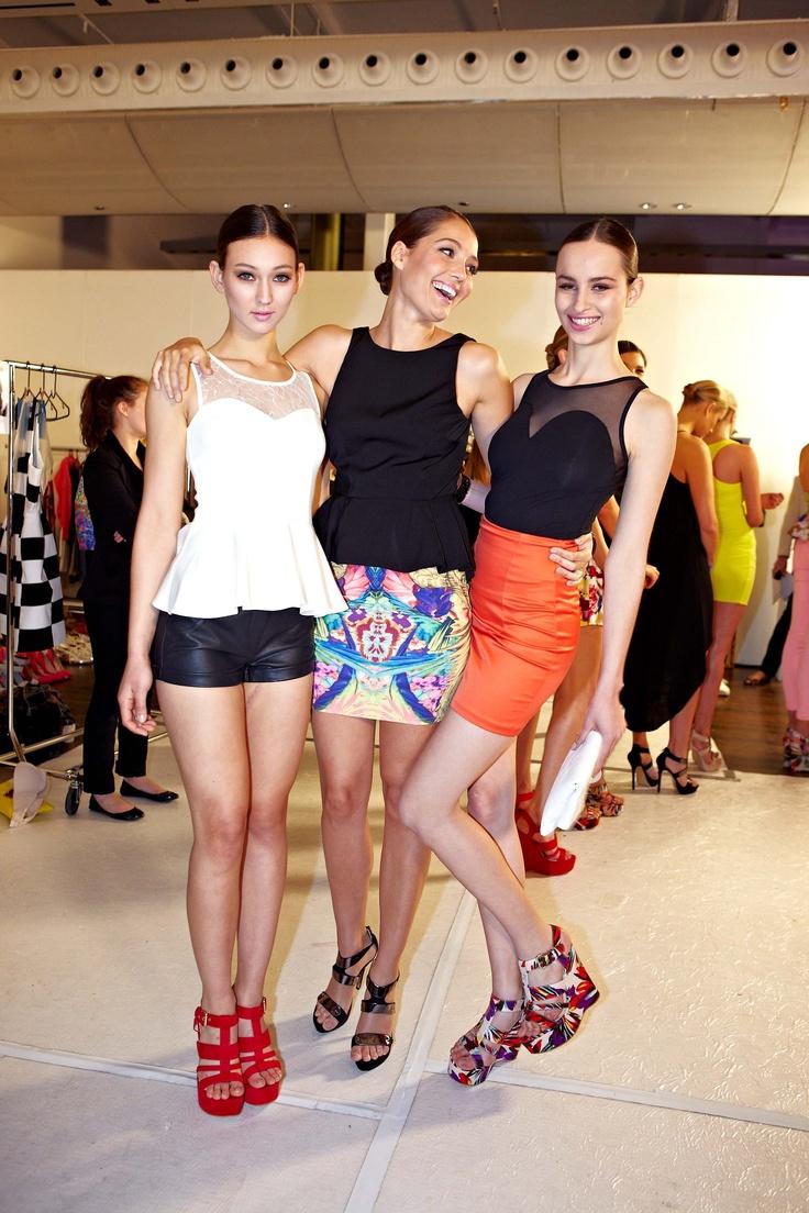 Bardot mini skirts backstage @ 30Days of Fashion & Beauty