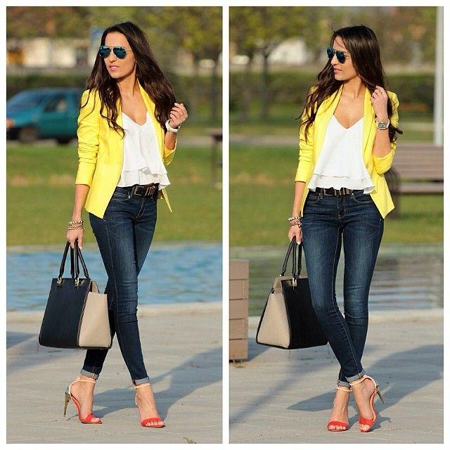 Panni in yellow blazer ::: StyleandBlog