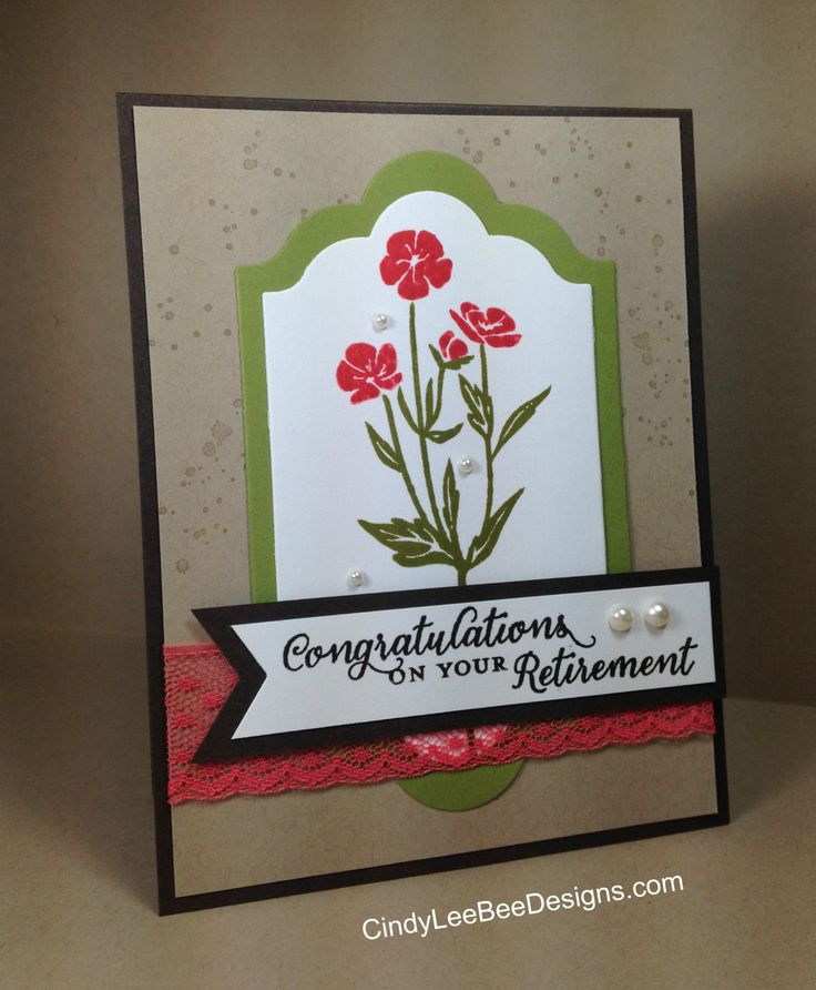Stampin Up Wild about Flowers, Retirement Card, Lots of Label Framelit, Itty Bitty Background