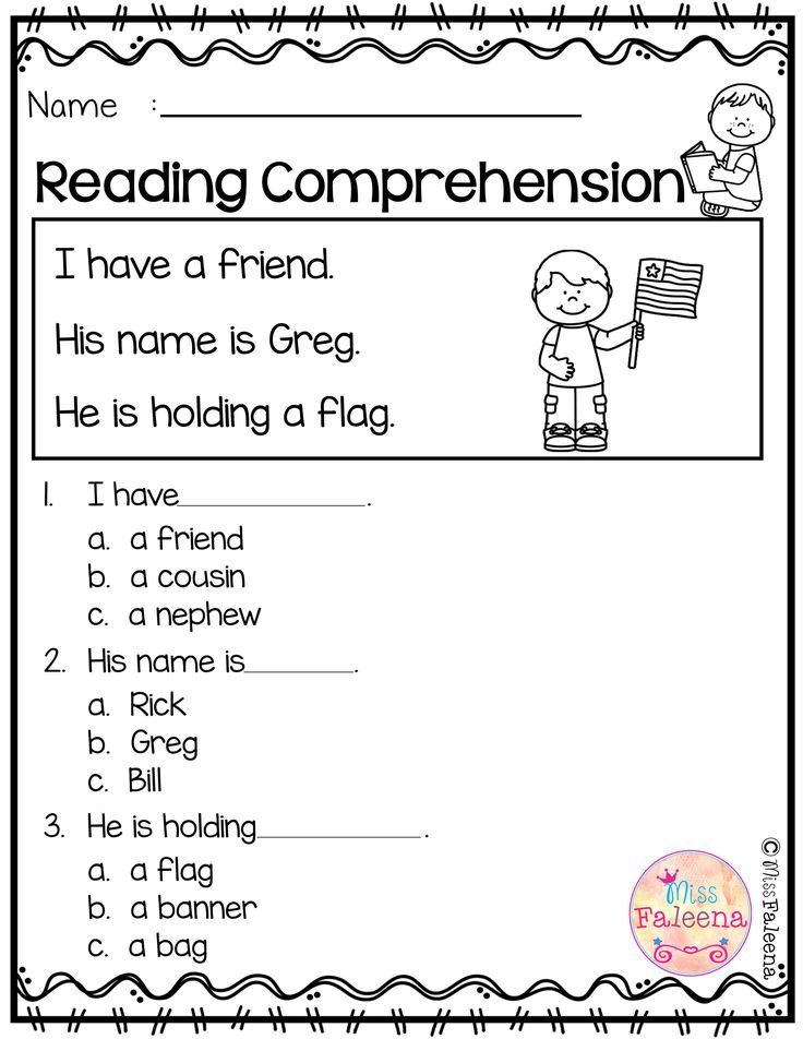 Free Reading Comprehension Reading Comprehension Worksheets Reading Comprehension Kindergarten Comprehension Worksheets Read and color comprehension worksheets