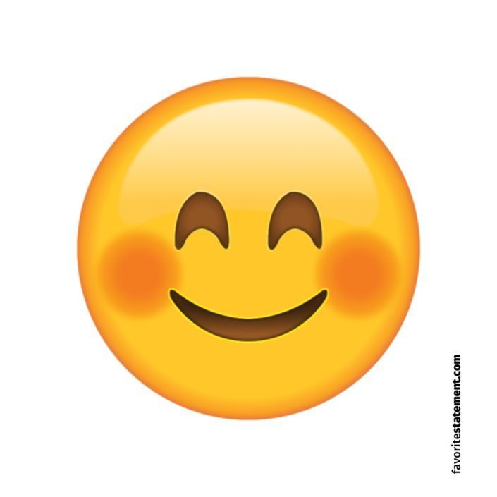 Smiling Face Emoji with Blushed Cheeks Smiley | Smile face, Smiley ...