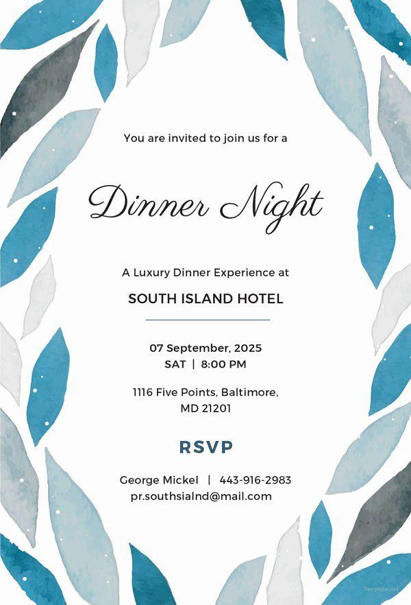 Formal Invite Template Free Unique 14 Formal Dinner Invitations Psd Word Ai Publisher In 2020 Invitation Templates Word Invitation Examples Invitation Template