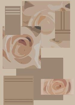Tapis fait main, hand tuft de luxe 100% laine, collection Floral Fantasy dessin RR-04-30