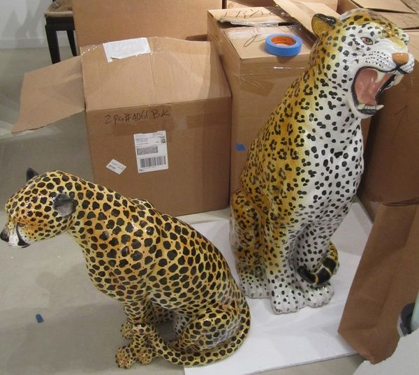 I need these leopard statues!   --> The Aestate: definitely not OTT