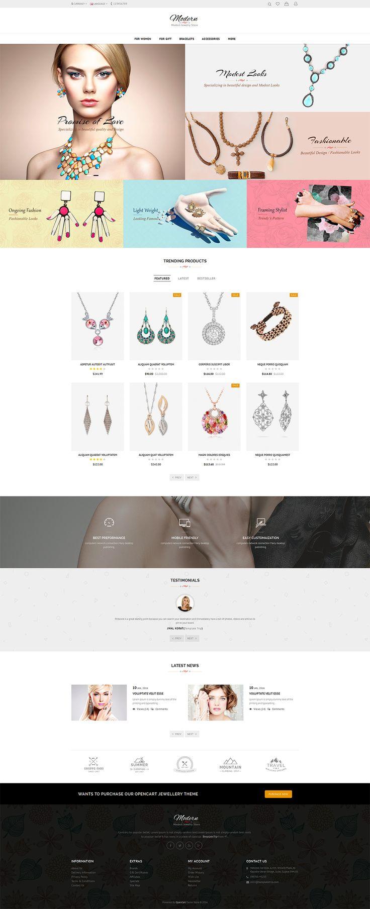 #Jewelry #Women #Beauty #eCommerce #Modern - #Opencart Multi Purpose #Responsive #Theme