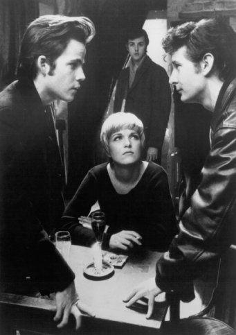"Stephen Dorff, Ian Hart, Gary Bakewell and Sheryl Lee in ""Backbeat"" (1994)."