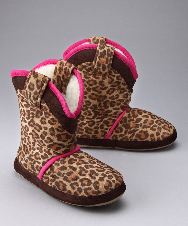 Take A Look At This Little Leopard Cowgirl Slipper