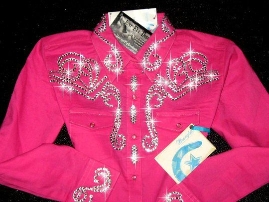 bling western showmanship shirts   Just Fly Designs > HOT PINK YOUTH SIZE 10 ! BLING GALORE!