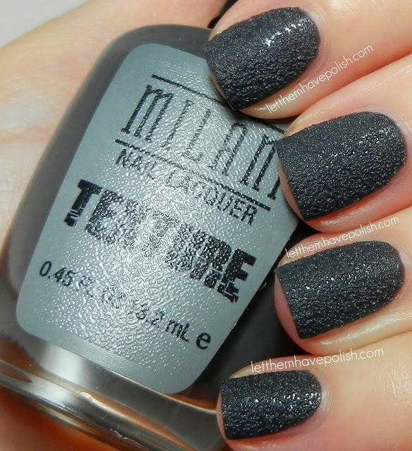 Milani Textured Nail Polish In Shady Gray