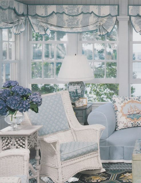Blue cottage style. Beach shabby chic