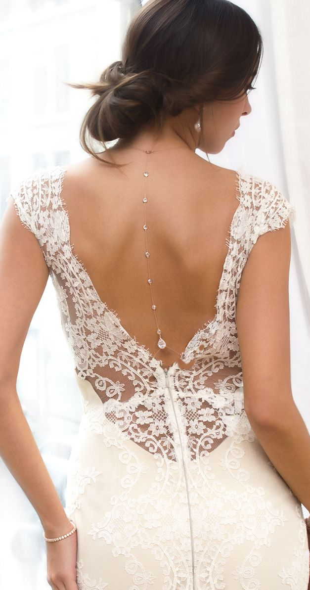 Bridal Backdrop Necklace, Bridal Back Jewelry, Swarovski Necklace, Rose Gold Necklace, Bohemian Jewelry, Wedding Accessories, Rose Gold Bridal Jewelry