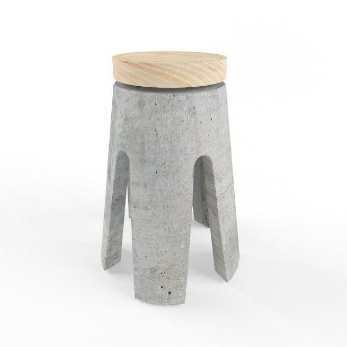 concrete stool by 3Dpapa on @creativemarket