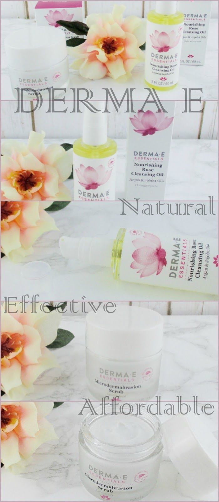 Cleanse and Exfoiate the Natural Way with Derma - E Skin Care Review *prsample