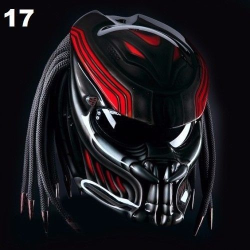 PROMO FREE SHIPPING US ONLY RED BLACK PREDATOR HELMET DOT APPROVED #CELLOS
