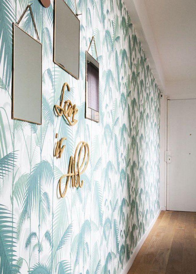 Les 25 meilleures id es concernant papier peint original for Miroir etroit