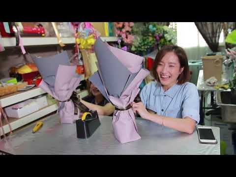 The Making of Korean Flower Bouquet for Valentines Day - YouTube