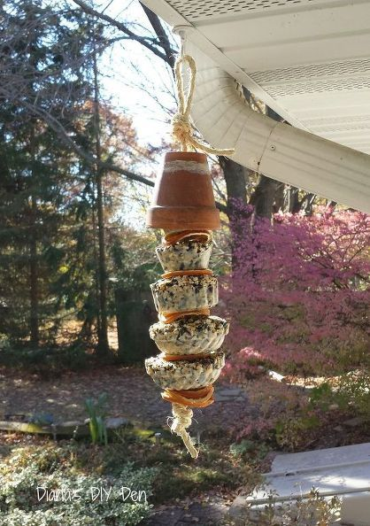 fruit suet kabobs for the birds, crafts, diy, outdoor living, pets animals