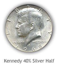 Kennedy 40% Silver Half Dollar Values