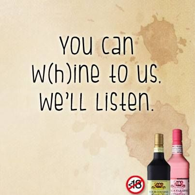 Of course I talk to my glass of FC Wine - sometimes I need expert advice!