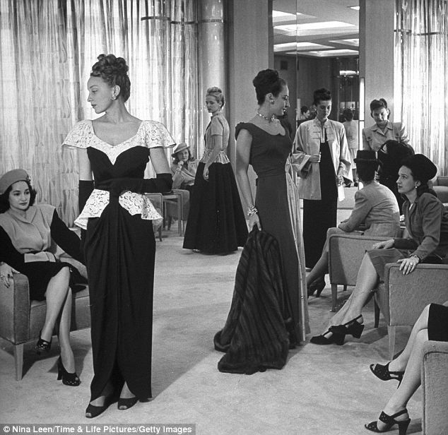 Luxury experience: Forget cramped fitting rooms - in 1945, Neiman Marcus's favoured customers had the latest looks modelled for them, and then tailored to fit