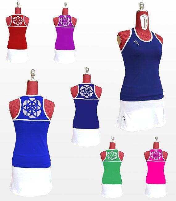 completo tennis donna canotta in vari colori con motivo