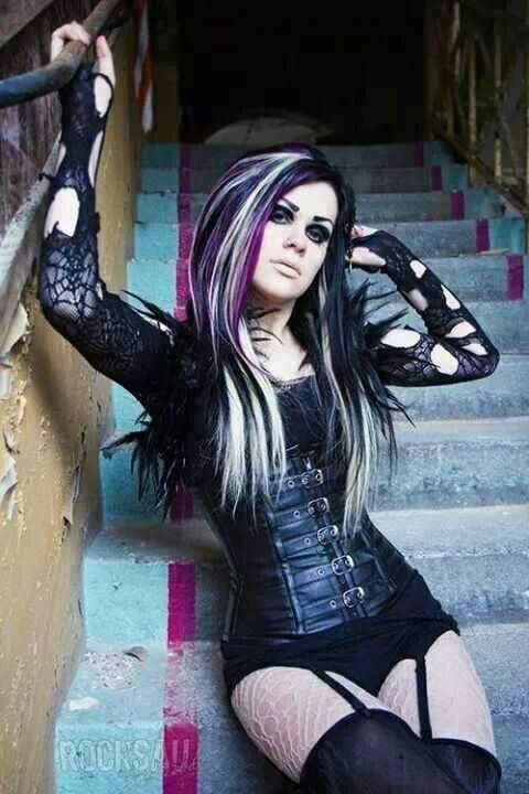 12 best blackwhite and purple hair images on pinterest