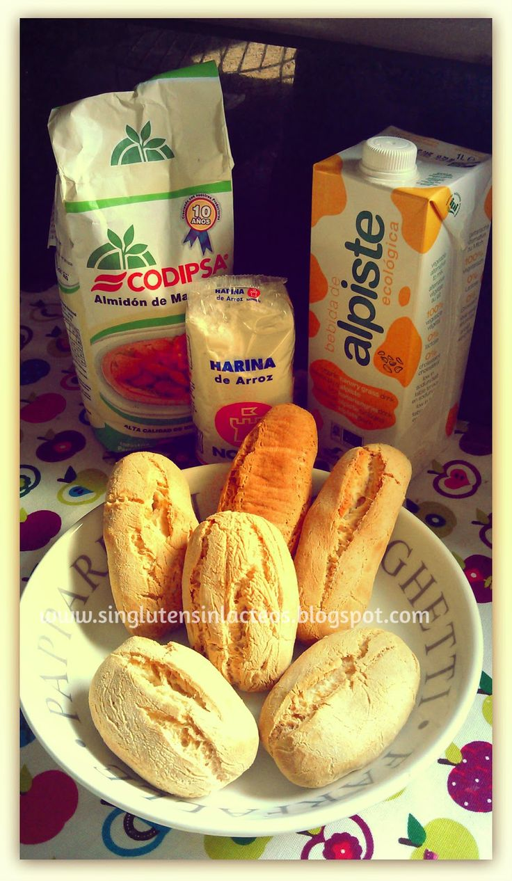 Panecillos tiernos con harina de mandioca y arroz, sin levadura ni gasificante.( persona int fructosa!!)