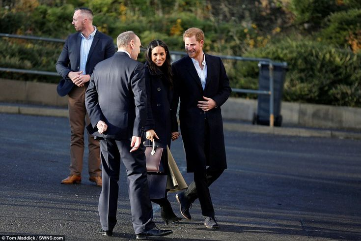 Miss Markle joined Prince Harry in Nottingham city centre during their first official royal outing together today