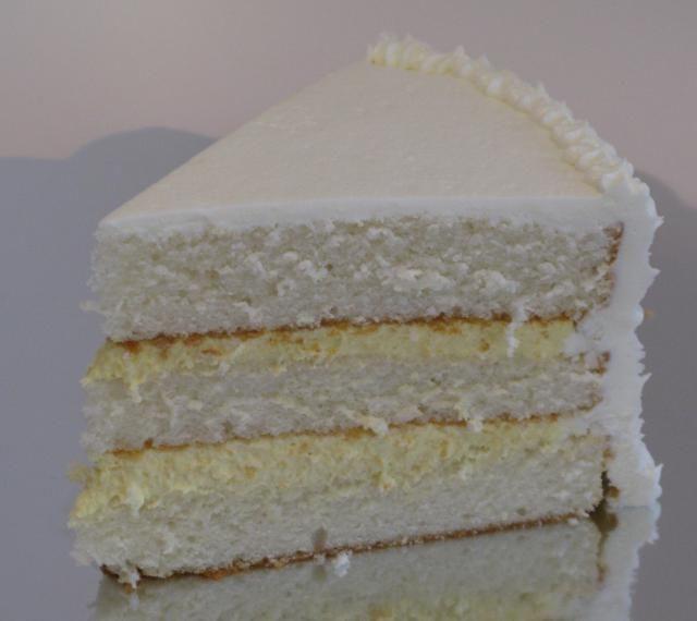 White Almond Cake With Bavarian Cream