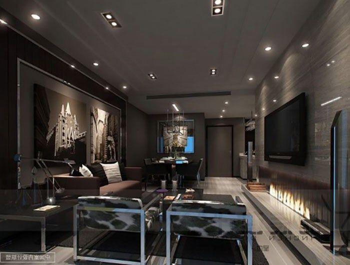 Masculine Interior Design For Independent Men Basemen Bintang #sleek #modern #living #room