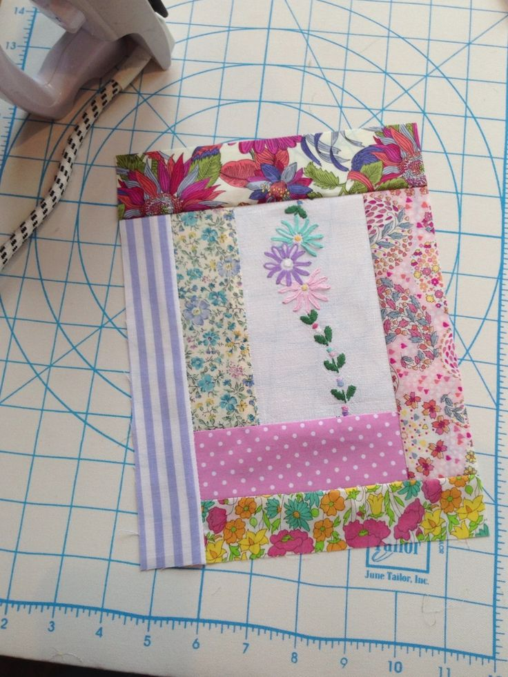 Brilliant Idea To Incorporate Vintage Embroidery Into A Quilt ~ Perfect For Stained or Moth Hole'd Vintage Tablecloths, Dish Towels, Napkins, Etc. ~ From HenHouse: Patchy
