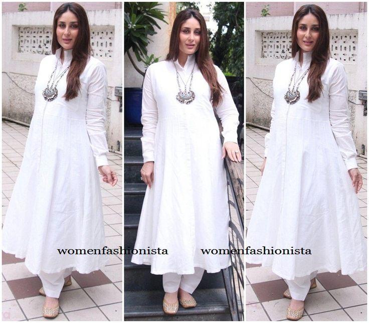 Kareena Kapoor in White anarkali suit from Rajesh Pratap Singh