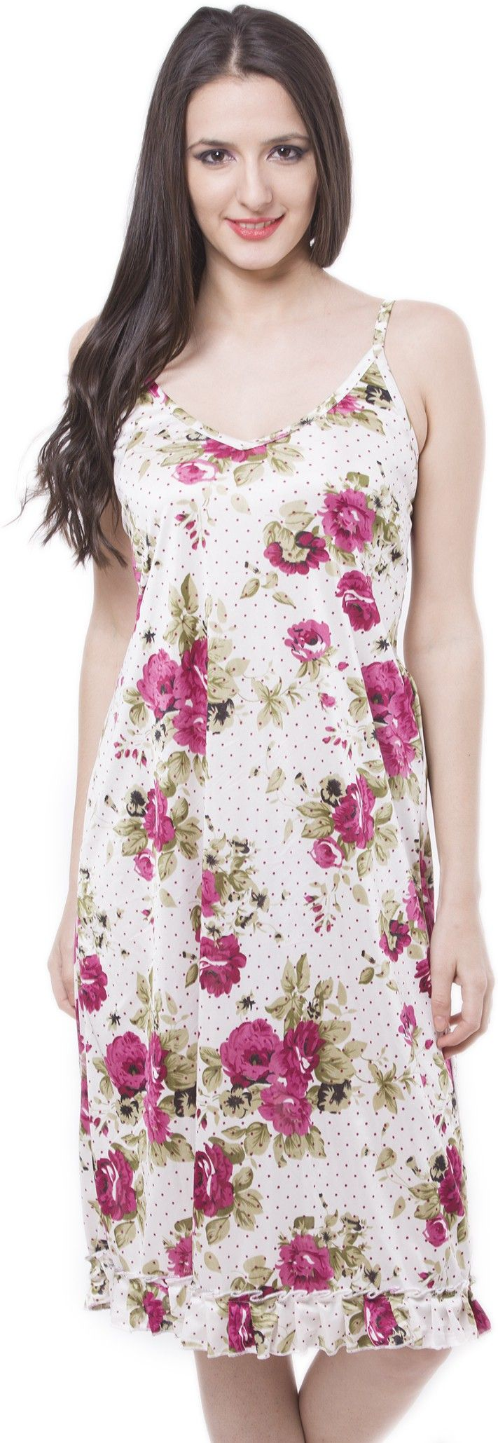 #BuyFromLink --> http://fkrt.it/iqwl~NNNNN #Women's #Floral #Sleeveless #Satin #Nighty #style #NIGHTWEAR #intimate #Gift #Shop #Buy #online #India #Women #Fashion