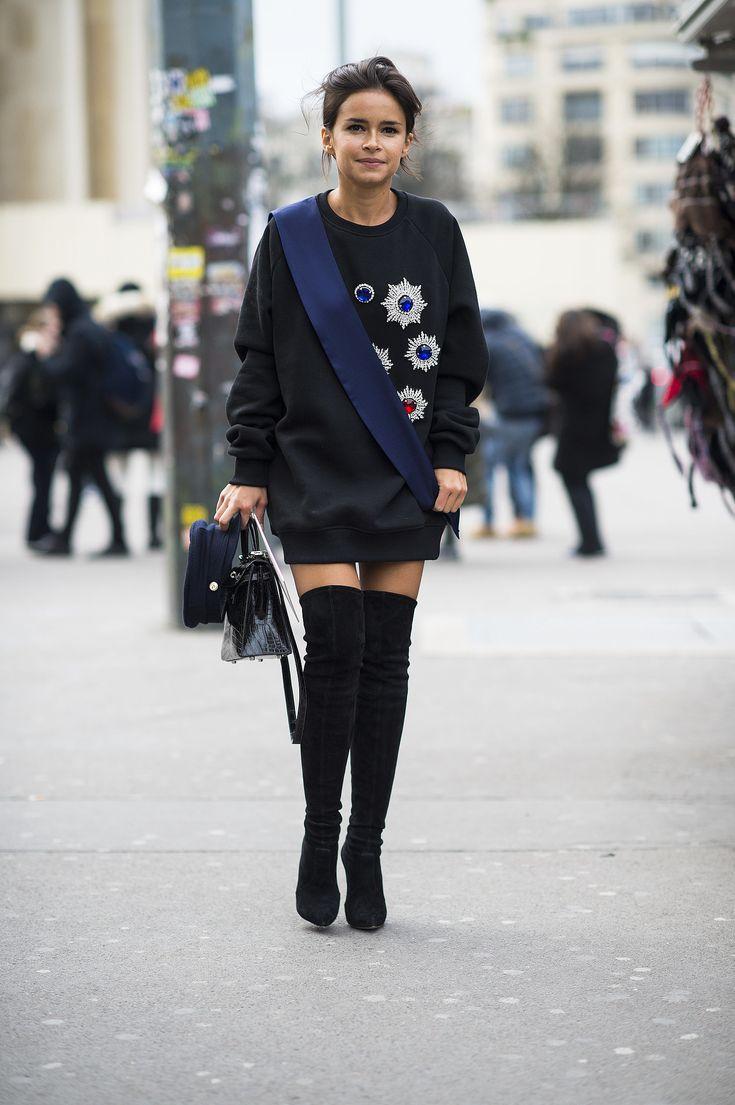 Couture Fashion Week street style — Miroslava Duma