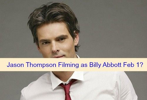 """The Young and the Restless"" (Y&R) spoilers hint that Jason Thompson will take over the role of Billy Abbott on February 1, 2016."