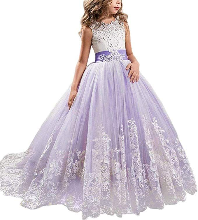 New Bridesmaid Flower Girls Pageant Dress with Shawl in 6 Colour from 2-13 Years