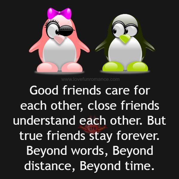 I buoni amici hanno cura reciproca, gli amici stretti si comprendono reciprocamente. Ma i veri amici sono per sempre. Al di là delle parole, al di là della distanza, al di là del tempo.