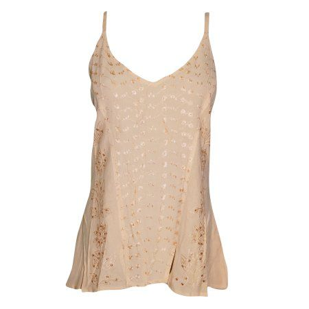 Free Shipping. Buy Mogul Women's Strappy Tank Top Beige Embroidered Cami Blouse Tops S at Walmart.com    http://stores.ebay.com/mogulgallery/Armoires-/_i.html?_fsub=1109606019&_sid=3781319&_trksid=p4634.c0.m322