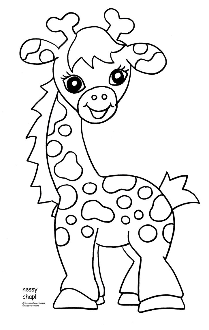 Coloring pitchers of animals - Baby Giraffe Coloring Pages For Kids Bing Images