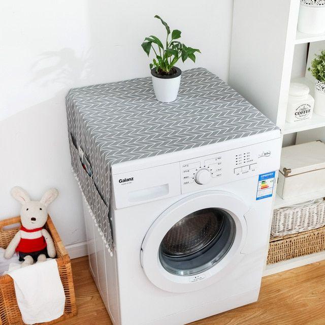 Washing Machine Cover With Pocket Refrigerator Top Cover 1 55x130cm In 2020 Washing Machine Cover Washer Dryer Covers Washing Machine