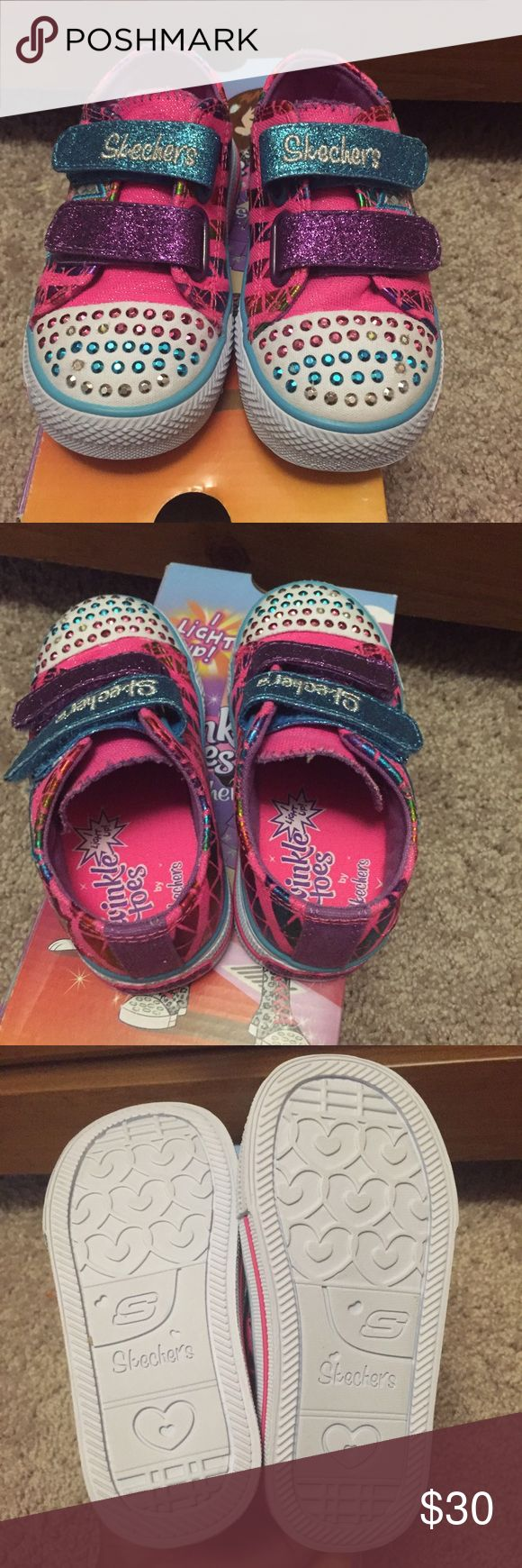 Skechers twinkle toes for kids This is brand new with box... In perfect condition my daughter never had a chance to use it... Aunthentic Skechers Skechers Shoes Sneakers