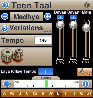 iTabla Pandit Professional Playing taals with real tabla sound samples