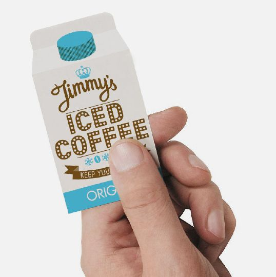 Clever iced coffee #business #card