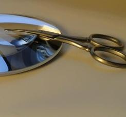11X SPEGELZOOM® : Mirror No1 + TWEEZERMAN Facial Hair Scissors