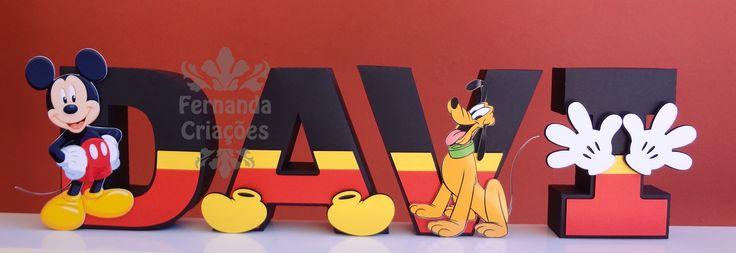 letras mickey mouse - Pesquisa Google